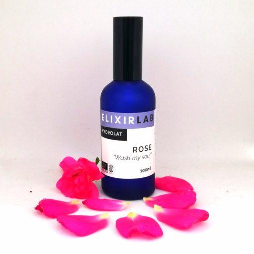 hydrolat de rose Wash my soul à base de rose centifolia cultivée par nos soins