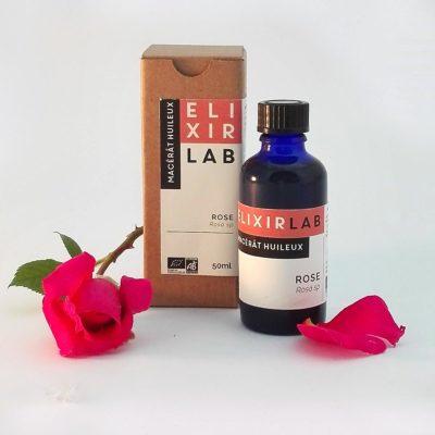 macérât huileux à la rose ElixirLab- démaquillant, huile de soin Bio
