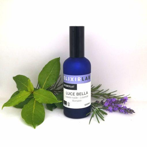 hydrolat Luce Bella ElixirLab mélange d'hydrolats de laurier noble, de romarin et de lavande officinale